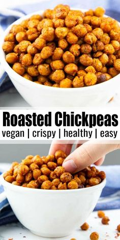 chickpeas - Roasted chickpeas are such a great and healthy snack! They are heavenly spicy, a little spicy and v -roasted chickpeas - Roasted chickpeas are such a great and healthy snack! They are heavenly spicy, a little spicy and v - Chickpeas Nutrition Facts, Chickpeas Benefits, Chickpea Tuna, Chickpea Snacks, Chickpea Masala, Chickpea Omelette, Chickpea Ideas, Chickpea Brownies, Chickpea Cookies