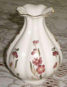 Antique Zsolnay Pecs Handpainted Pink Floral W/Gold Gilt Art Nouveau.........................d
