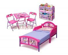 Trojdielny komplet nábytku Disney Minnie Mouse , ktorý zahŕňa posteľ, organizér na hračky a stolček s stoličkami.Postieľka Minnie Mouse Toddler je nízko položená, teda dobre dostupná deťom. Jej čelo a bočné časti sú vyrobené z vysoko odolného, tvrdeného plastu. Silný oceľový rám zaručuje postieľke dostatočnú stabilitu.Posteľ obsahuje látkový rošt.Matrac nie je súčasťou postele, možno ju však nájsť sekciu MATRACE, kde si vyberte príslušný rozmer.Rozmer pre matrac - 140x70cm.Postieľka je pre…