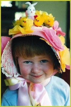 Simple Easter Bonnet & Hat Ideas - Cozy Home Resource Hoppy Easter, Easter Bunny, Easter Eggs, Easter Hat Parade, Bonnet Hat, Easter Crafts, Easter Ideas, Easter Projects, Easter Recipes