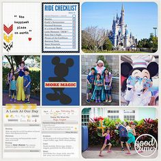 AMAZING Disney Project Life page created by Gina featuring Project Mouse by Sahlin Studio & Britt-ish Designs
