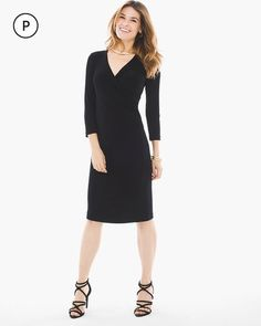 Travelers Classic Petite Rosemary Wrap Dress