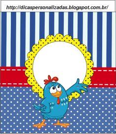 Estou disponibilizando algumas artes da galinha pintadinha para vocês personalizarem as guloseimas e lembrancinhas da sua festa, a arte fico...