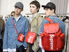 Take a closer look at Louis Vuitton's buzzy collaboration with streetwear brand Supreme.