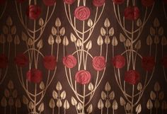 CHESS-DESIGNS-MACKINTOSH-CLYDE-BROWN-RED-CURTAIN-FABRIC-PER-METRE