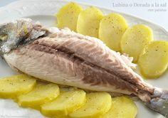 Lubina o Dorada a la sal con patatas - MisThermorecetas.com