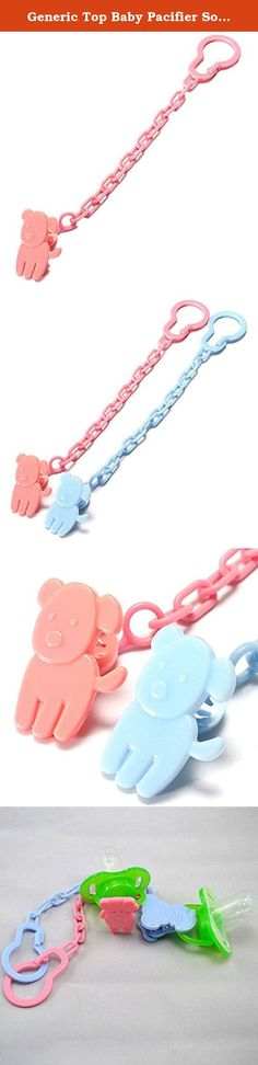 "Generic Top Baby Pacifier Soother Nipple Chain Clip Buckle Holder. Material: PP Color: Red / Blue (note:due to different batch,the pattern will send by random,please don't mind before you bid.) Total length:23cm / 9"" Package included: 1 X Baby Dummy Chain Features One end can be caught in the baby's skirt£¬the other end can be chained pacifier. No sharp edges so it will not harm the baby. Length is right and will not twist the baby. Animal modelling beautiful and lovely,make more…"