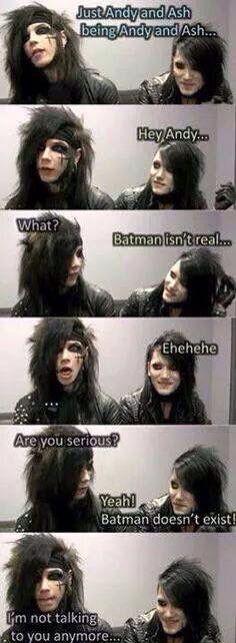 Andy loves Batman... He's BatmAndy