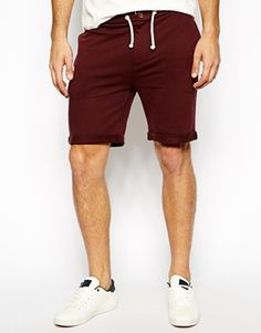ASOS Jersey Shorts With Zip Fly And Button Detail