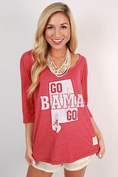 University of Alabama Boyfriend Tee