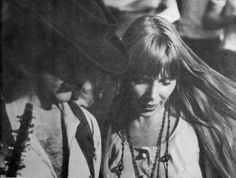 David Crosby and Joni Mitchell in Big Sur, 1968