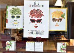 Vitrine Opticiens Maurice Frères - été 2015 : Un été à dévorer des yeux ! #foodart #opticiens #opticien #lunettes #vitrines #solaires