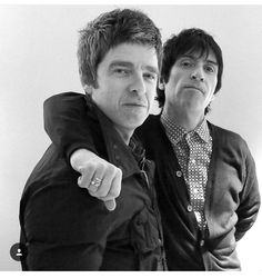 Noel Gallagher & Johnny marr Music Mix, Good Music, Liam And Noel, Oasis Band, Sigur Ros, Primal Scream, Johnny Marr, Noel Gallagher, Britpop