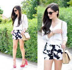 Alba . - Sheinside Shorts, Alain Afflelou Eyewear, Sheinside Shirt - ...Print Cow...