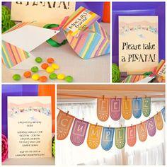FIESTA Collection - Printable Party Décor. $20.00, via Etsy. --did the Skippyjon jones party