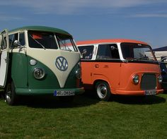 VW Bulli und Ford Taunus Transit by Bernd Tuchen