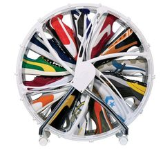 The Shoe Wheel Rethinks Traditional Shelving for the Sneaker-Obsessed #shoes #fashion trendhunter.com