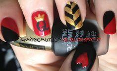 ABC Challenge: Q – Queen Of Hearts Manicure / Nail Art Regina di Cuori