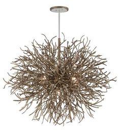 Troy Lighting - F6098 - 12 Light Pendant - Distressed Bronze Nature indoors #lightfixture