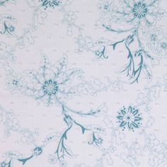 White/Blue Floral Embr & Eyelet Fabric by the Yard   Mood Fabrics