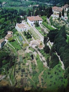 Airview of Villa Medici in Fiesole