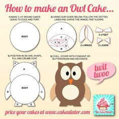 How to make an Owl cake.