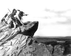 Native Americans | 'Watching the herd' | photo by Roland W. Reed | Montana early 1900's