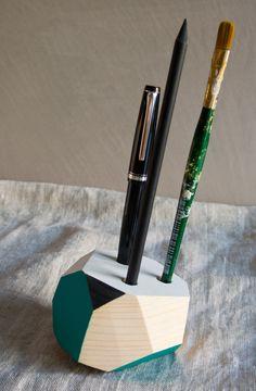 Wood&cut portapenne triplo