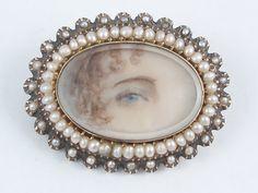 Eye miniature Georgian Circa 1820s