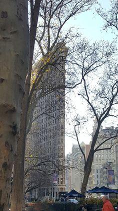 Madison Square Park. Flatiron Building. NYC. Desember 2016.