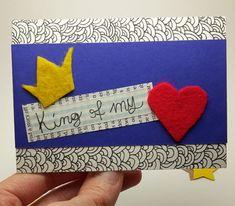 Re del mio cuore   card amorosa  di EphemerellaCrafts su Etsy