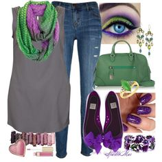 """""""Hint of Mardi Gras"""" by sparklemar on Polyvore"""