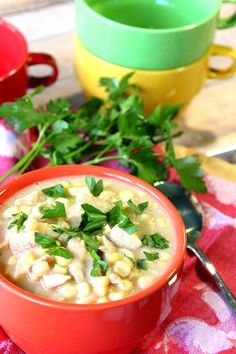 Healthy and Creamy Chicken Corn Chowder with Bacon is comfort food that will hug you from the inside out. - Kudos Kitchen by Renee