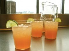 citrus-ginger margaritas. you can even pretend they are good for you because they're loaded with so much vitamin c! ;)