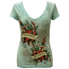 Ed Hardy Womens Hearts & Dagger Specialty V-Neck « Impulse Clothes Ed Hardy Designs, Don Ed Hardy, Cool Style, My Style, Tee Shirts, Tees, T Shirts For Women, Clothes For Women, V Neck Tee