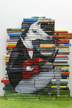 Well. . .here is one way I could use my library that I am so reluctant to thin out. Book Paintings by MIKE STILKEY