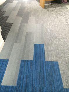 Carpet Tile Planks by Interface flooring.