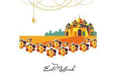 Eid Mubarak arabic muslim card desi… by studioworkstock on Eid Mubarak Greeting Cards, Eid Mubarak Greetings, Greeting Card Template, Card Templates, Eid Al Fitr, Festival Celebration, Graphic Design Illustration, Muslim, Holiday