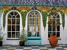 PortMeirion Wales, Real Land of Oz William Ellis, Land Of Oz, Wall Paintings, Cymru, North Wales, Finding A House, Beautiful Wall, Great Britain, My House
