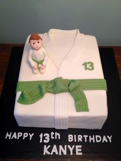 Happy 13th Birthday, Leo Birthday, Birthday Parties, Birthday Cakes, Judo, Karate Party, Karate Birthday, Taekwondo, Fondant Cakes