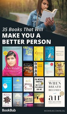 Books That Will Make You a Better Person These 35 books will make you a better person.These 35 books will make you a better person. Books Everyone Should Read, Best Books To Read, Good Books, Books To Read In Your 20s, Books To Read For Women, Book Challenge, Reading Challenge, Book Suggestions, Book Recommendations