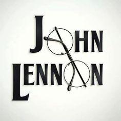 """.Lennon""""s trade mark glasses"""