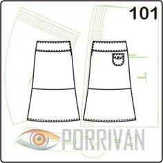 Две юбки, выкройки которых вы скачаете в этой статье, очень похожи. Разница между двумя моделями в длине волана, пришиваемого к полотнищам юбки.