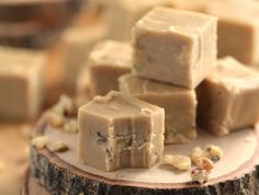 Super rich and ever-so-creamy, this Old Fashioned Maple Walnut Fudge is the perfect treat for maple syrup season. Made with real Maple Syrup, cream, butter and walnuts, it doesn't get any better than this! Maple Walnut Fudge Recipe, Maple Fudge Recipes, Candy Recipes, Sweet Recipes, Holiday Recipes, Dessert Recipes, Cookie Recipes, Fudge Ingredients, Coconut Hot Chocolate