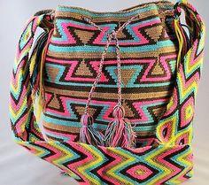 Подлинные Большие WAYUU маленькая сумка 100% колумбийский, богемный Hobo лучших ручной работы 564
