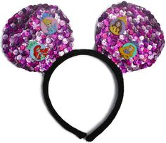 The Royals Handcrafted Homemade Sequin Costume Mouse Ears Headband are the perfect pair of mouse ears for toddlers, children, and adults with the one...  #disneyprincess #disneyworld #disneyland #ariel #thelittlemermaid #cinderella #belle #beautyandthebeast #rapunzel #tangled #disneyears #mouseears #mickeyears #handcraftedheadband #headband #princess