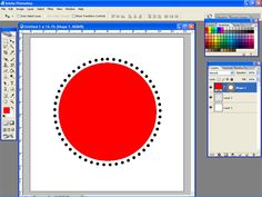 photoshop dots in a circle
