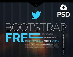 Bootstrap responsive Grid PSD, FREE, Mobile, Tablet, and Desktop
