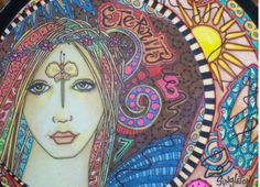 Hippie Singleton Art Eternity Angel  Collage on by justgivemepeace,