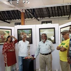 A formal inauguration speech for opening of #art exhibition at #monalisakalagram in #koregaonpark #pune  #punediaries